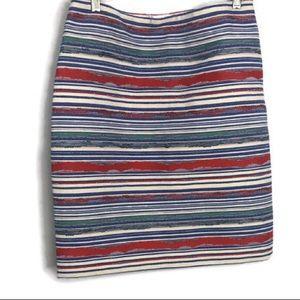 J. McLaughlin striped textured skirt 8